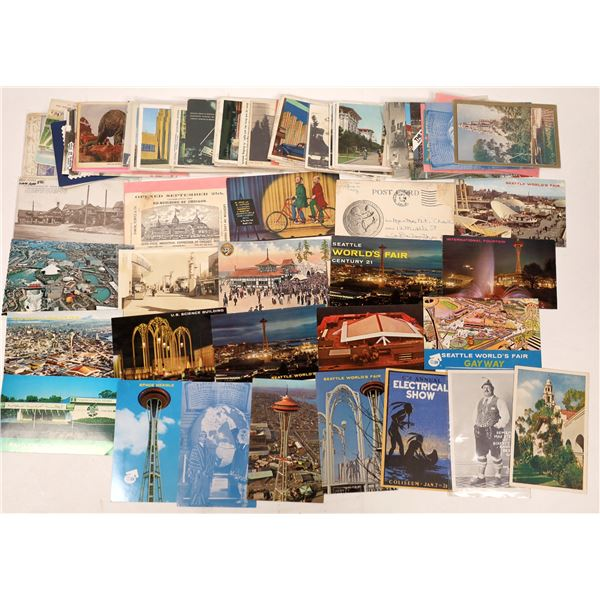 US Exposition Postcard Group (About 75 cards)  [137910]
