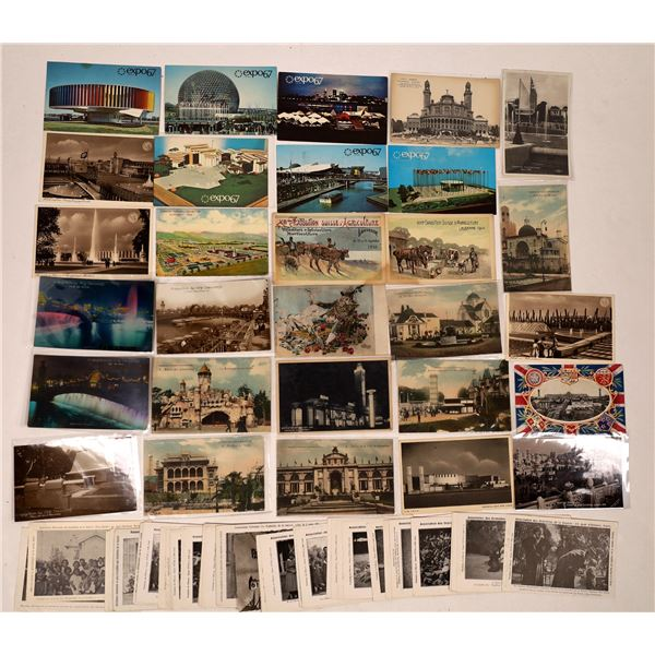 Foreign Expostions Postcard Group (60)  [137911]