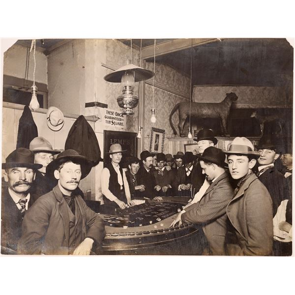Dice Game in a Western Saloon Photograph  [137342]