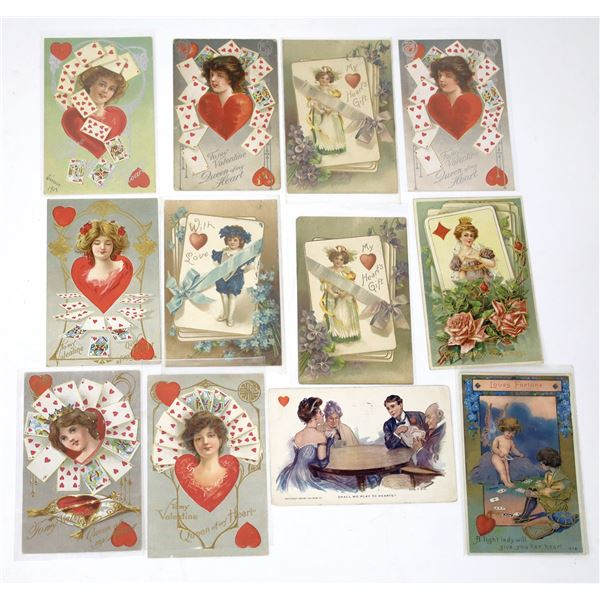 Gaming Postcards - Valentine Playing Cards (12)  [138110]