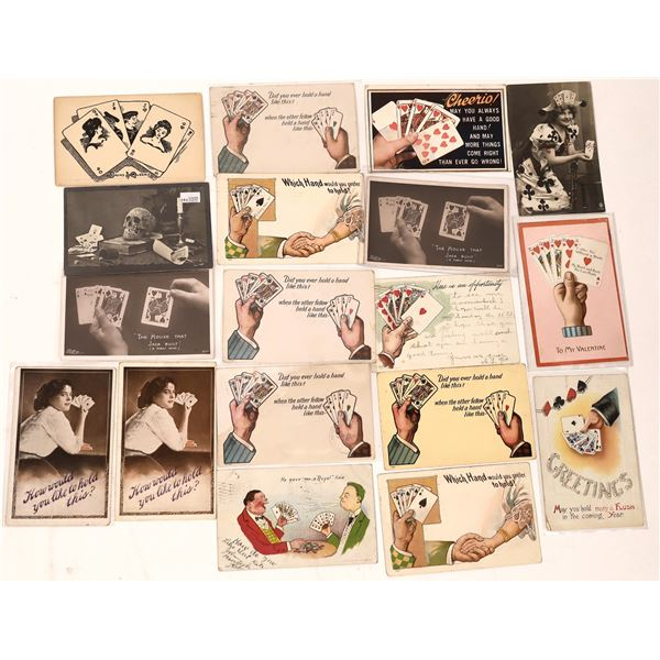 Gaming Postcards with Poker Hands (Approx 18)  [138103]