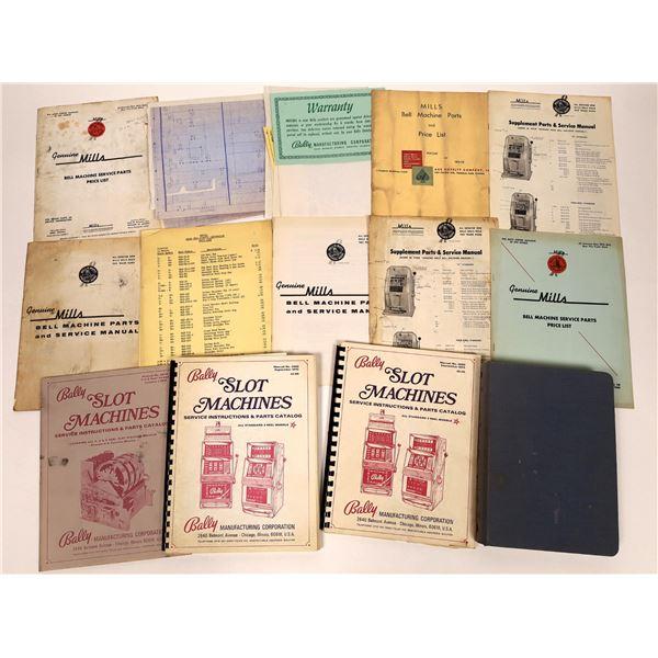 Mills Bell Machine and Bally Slot Machine Catalogs and Schematics  [135004]