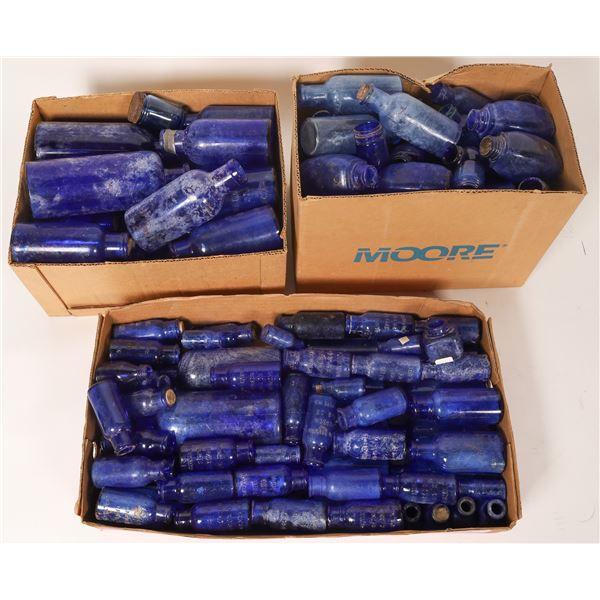Hoard of Cobalt Blue Bottles  [136664]