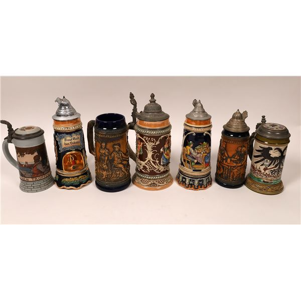 Ornate Beer Stein Collection (7)  [137440]
