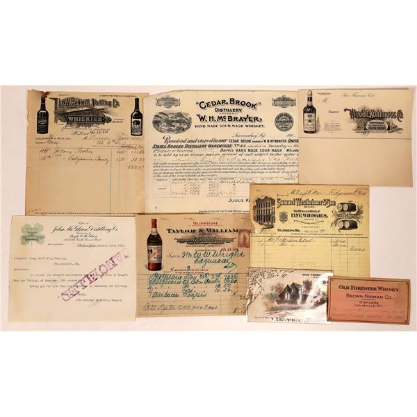 Whiskey Letterheads & Other Ephemera  [135182]