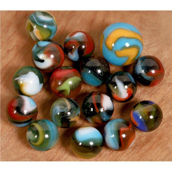 Multicolor Pettier Marbles (16)  [135171]