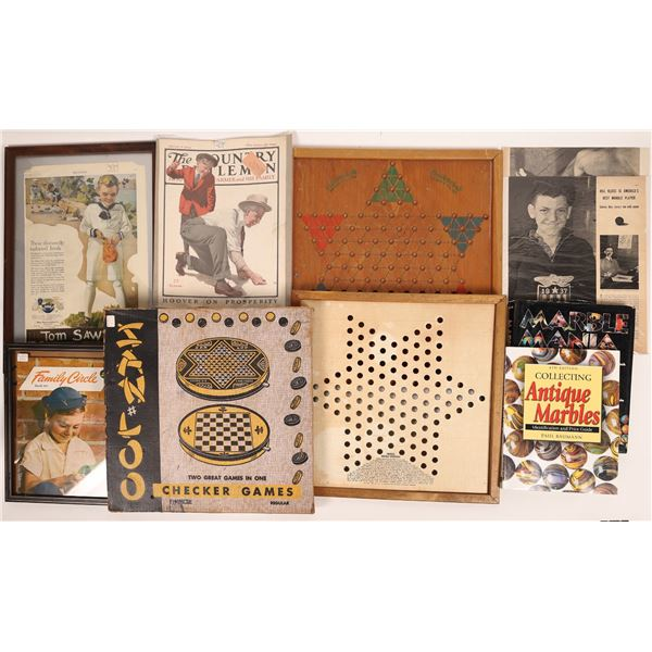 Historic Marbles Game Boards and Ephemera  [131409]