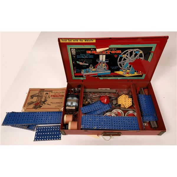 Model 8-1/2 Erector Set in Original Red Metal Box  [136097]