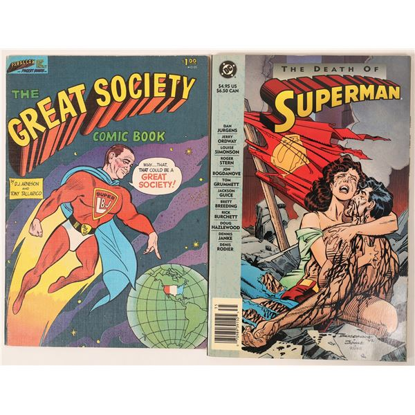 Death of Superman/ Great Society Comic Books  [136846]