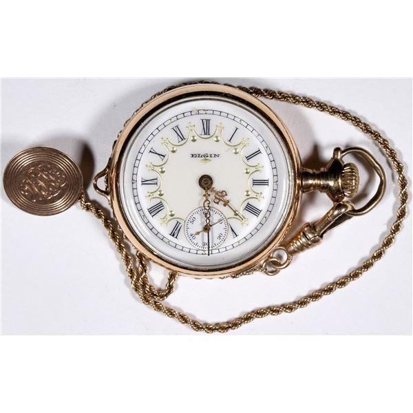 Ladies Gold Elgin Pocket Watch  [136552]
