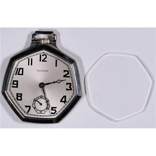 Gold Filled Illinois Ladies Pocket Watch  [136559]