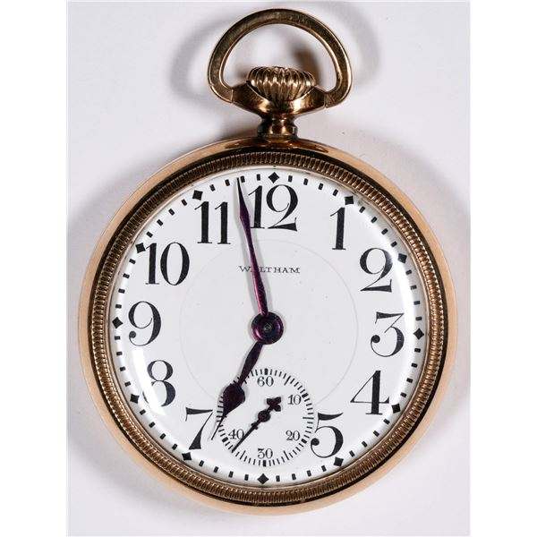 Waltham Pocket Watch, Gold-Plated, 7 Jewel,   [136542]
