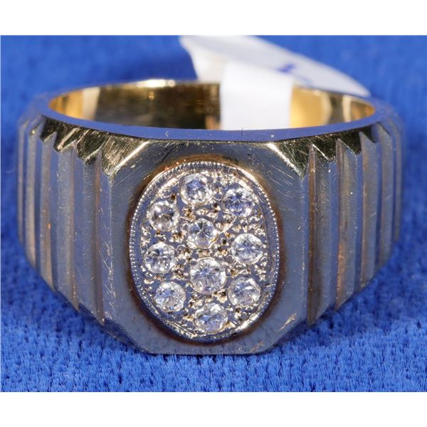 Multi-Diamond and Gold Ring  [133848]