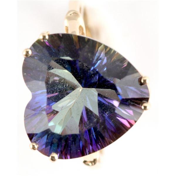 Heart Shaped Tanzanite Colored Ring  [137758]
