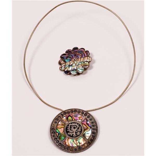 Taxco Abalone Inlay Jewelry  [135611]