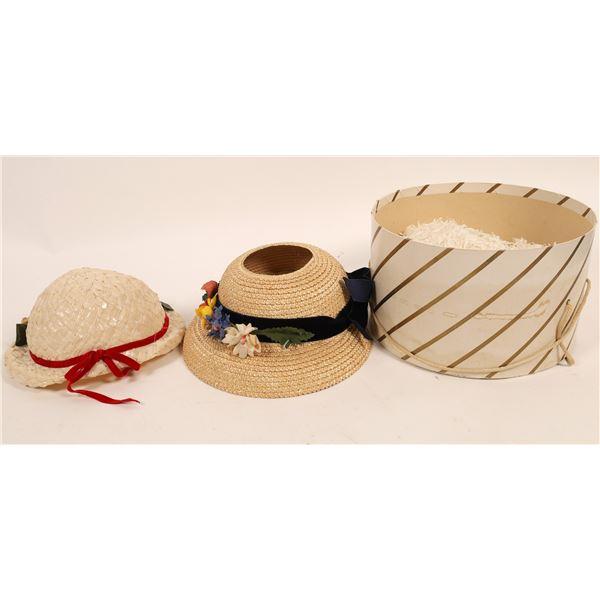 Straw Style Bonnet Style Hats (2)  [136678]