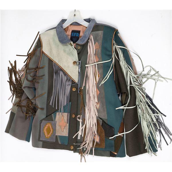 SFR Santa Fe Re-Creations Southwest Leather Fringe Jacket  [131998]