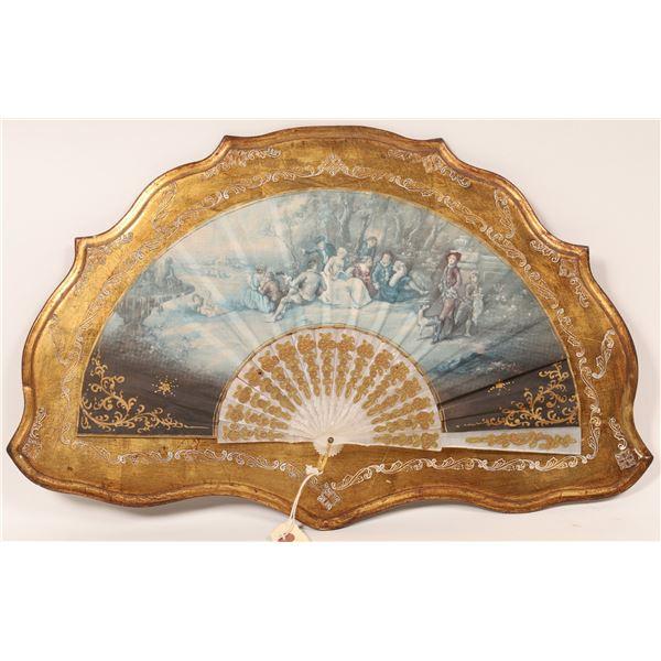 Framed Antique Style Ladies Fan  [136685]