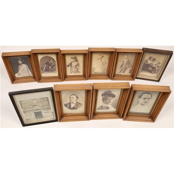 Theatre Actor/Actress Framed Photos, Some Autographed  [136681]