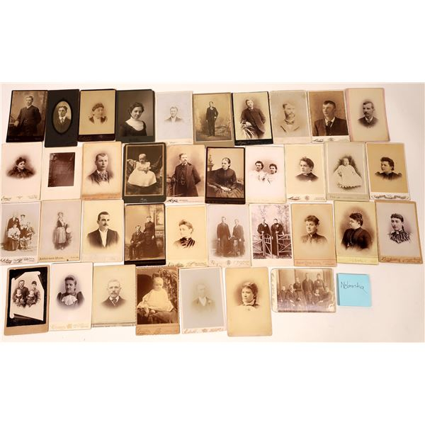 Great Plains Cabinet Card Photograph Collection (66)  [137455]