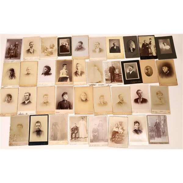 Southern States Cabinet Card Photograph Collection (42)  [137456]