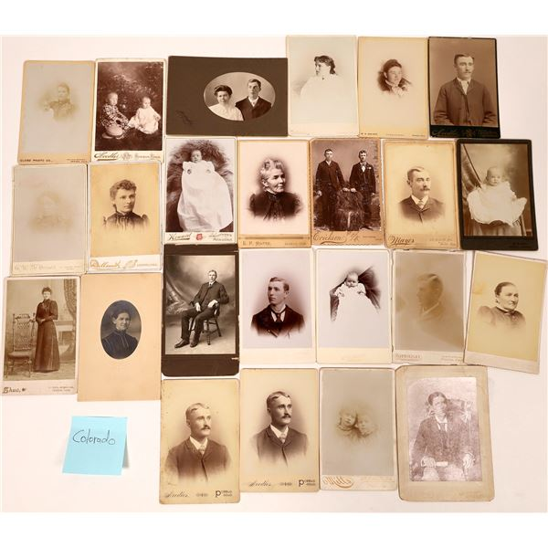Western States Cabinet Card Photograph Collection (70)  [137457]