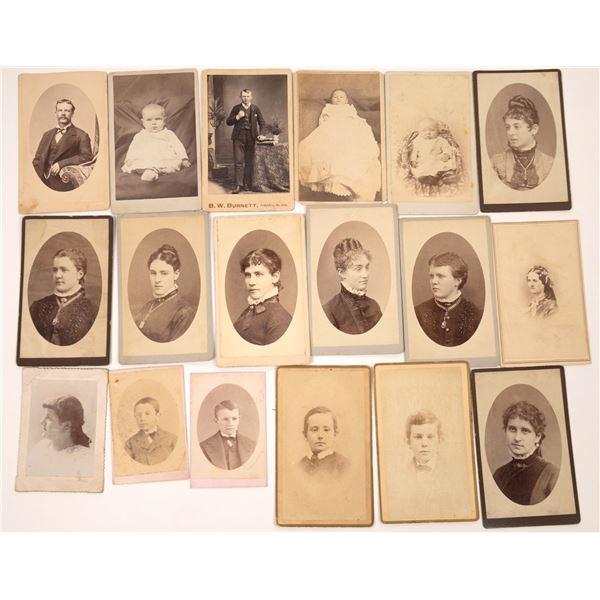 Western U.S. CDVs Collection (18)  [137459]