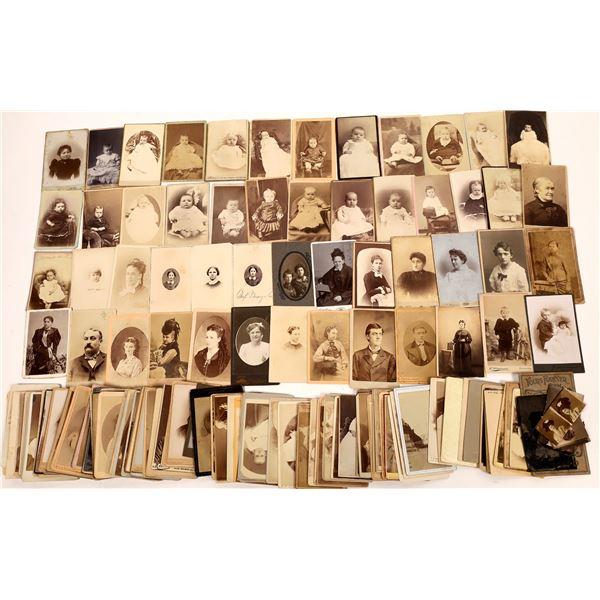 Carte De Visite Portrait Group (Approx 150+ CDVs)  [137542]
