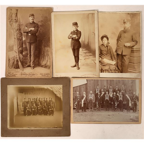 Cabinet Cards & Photos of Men in Various Uniforms  [135827]