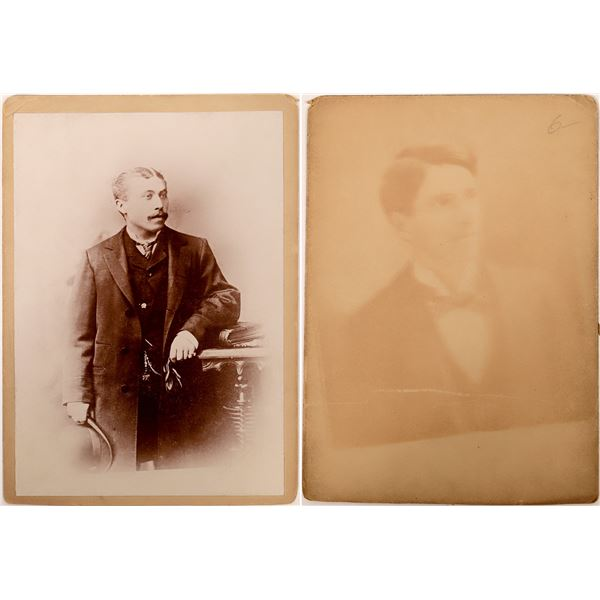 Cabinet Card with Ghost Image  [137458]