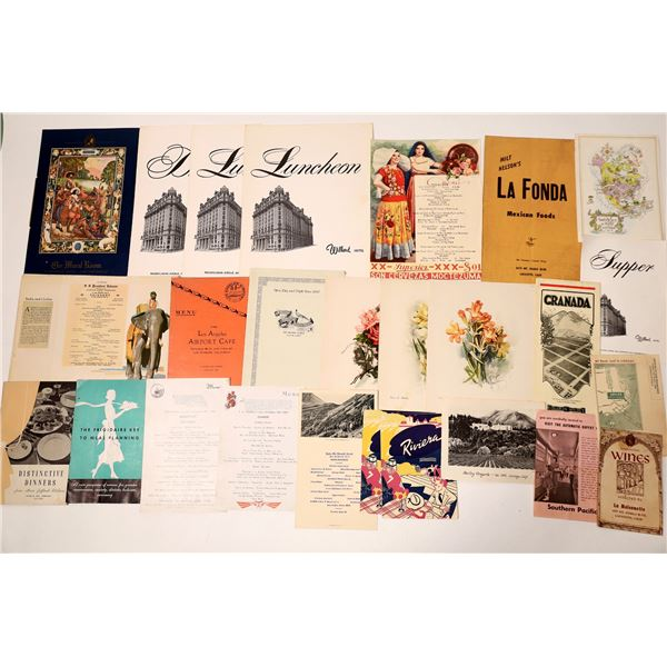 Historical  Menu Collection  [135233]