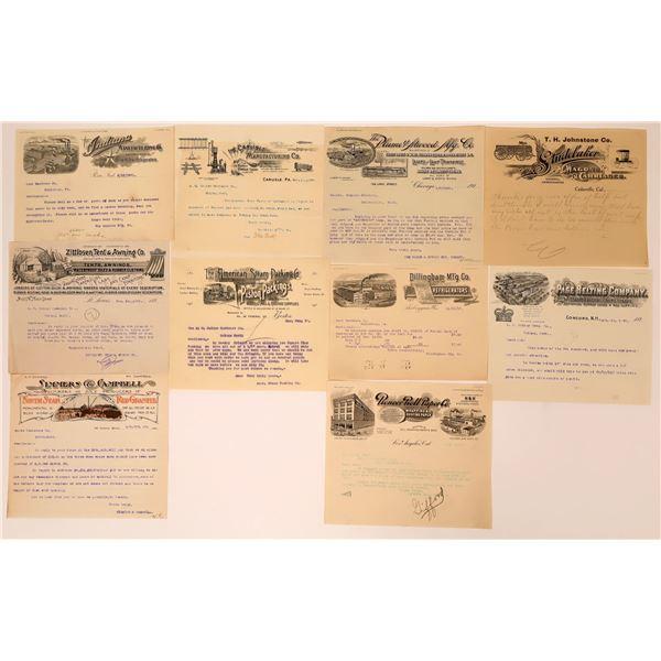 Half-Page U.S. Business Letterheads (11)  [137607]