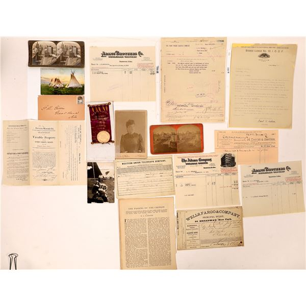 Misc. Americana: Express, Railroad, Photos, Documents, Chinese  [134210]