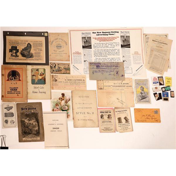 Sewing Machine Ephemera Collection  [132660]