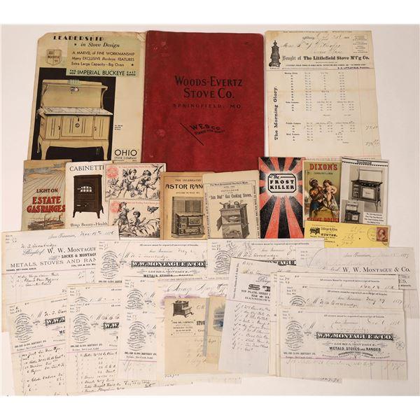 Stoves & Ranges Billhead Collection & Ephemera  [135725]