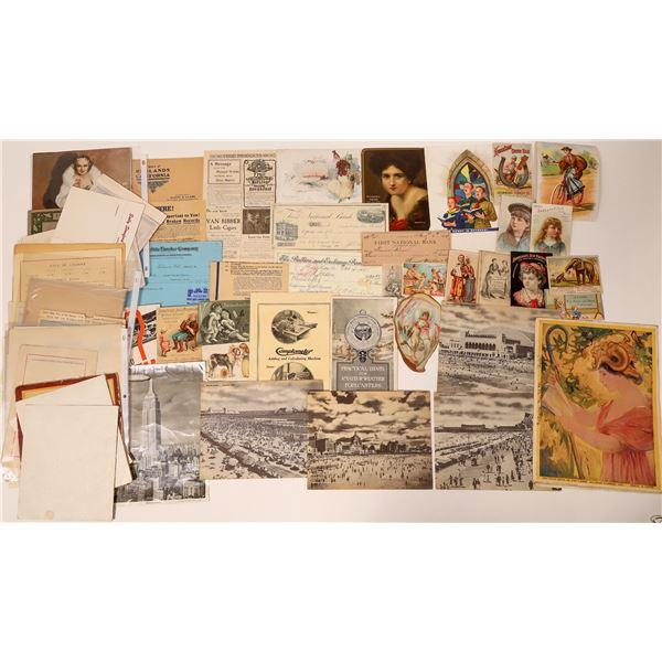 Trade Cards and Miscellaneous Ephemera  [135932]