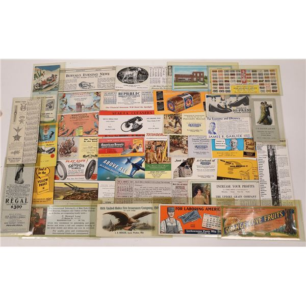 Vintage American Advertising Blotter Collection  [138997]