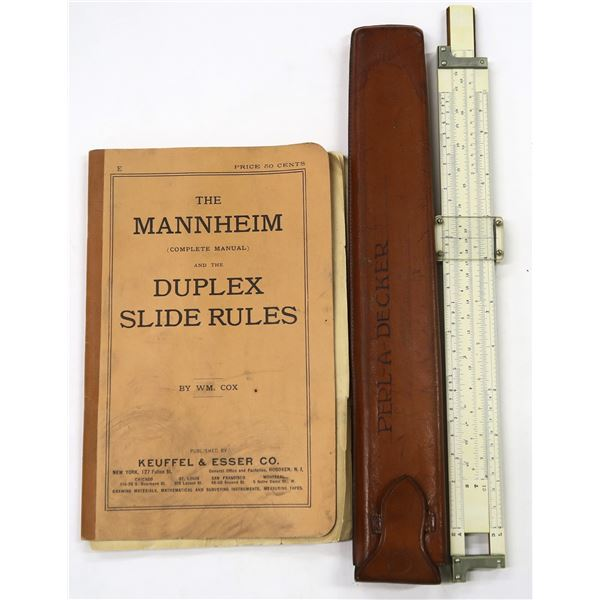 Early Slide Rule K&E with Leather case, 1890s  [137447]