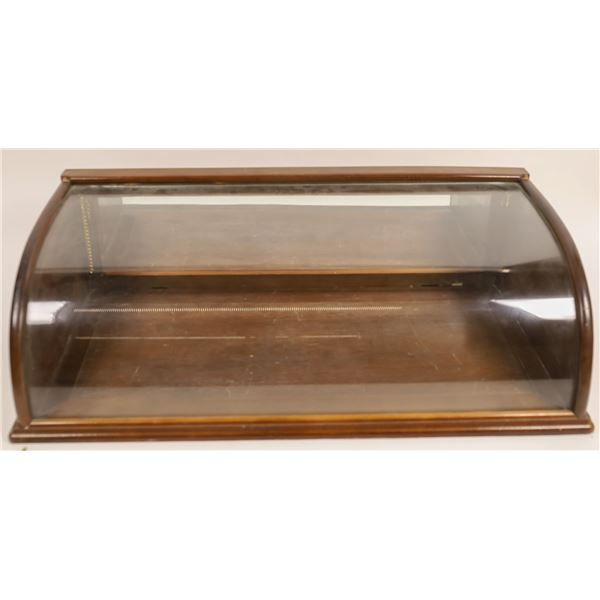 Breadbox Style Wood and Glass Display case  [135163]