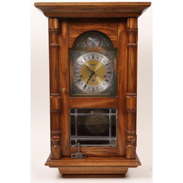 Chiming Wall Clock in Oak Case by Trend  [136095]