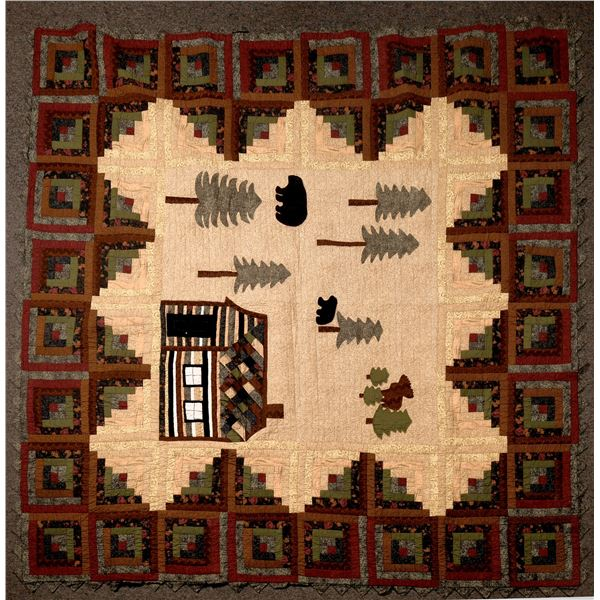 General Americana Style Large Handmade Quilt  [136663]