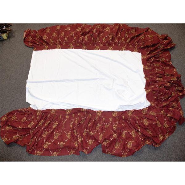 King Sized Bed Ruffle Western Theme  [135152]