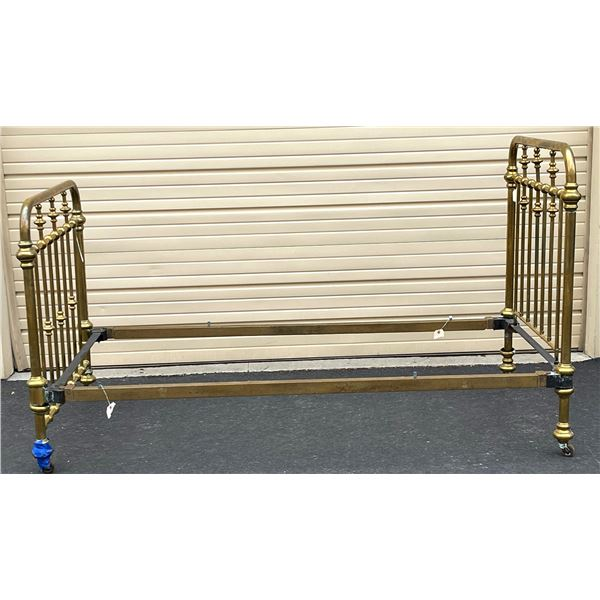 Original Antique Brass Bed Frame  [136665]