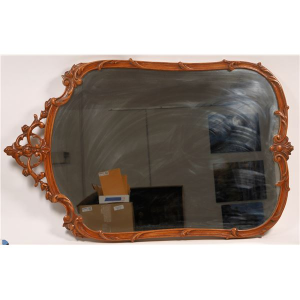 Ornate Wood Framed Hanging Wall Mirror  [136611]