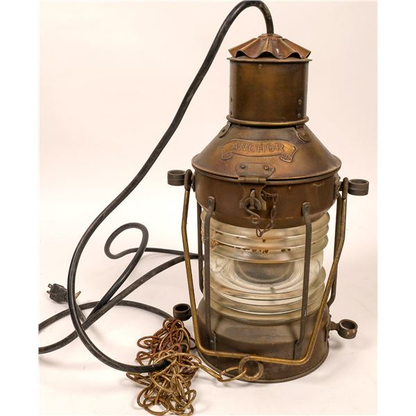 Large Modern Reproduction of a Ships Lamp  [136666]