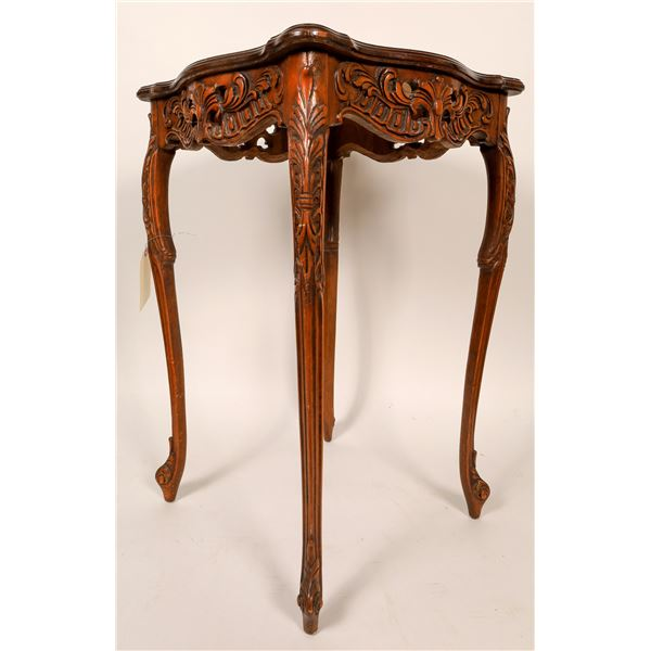 Hand Carved Tables, Matching Pair  [136674]