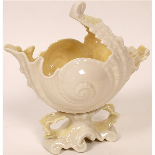 Belleek Shell Figural Ceramic Vase  [136621]