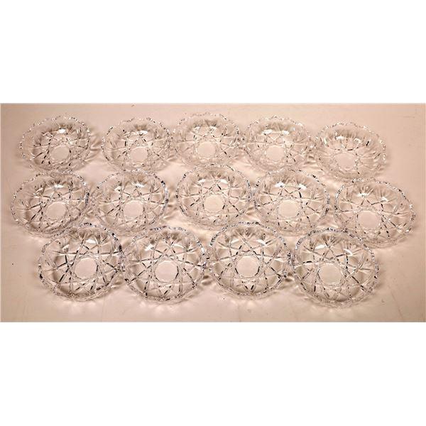 Cut Crystal Bowl Set (14)  [136875]