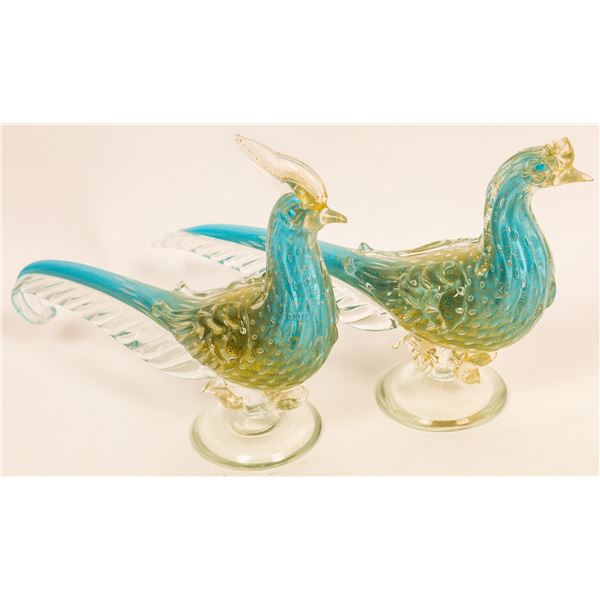 Hand Made Glass Birds (2)  [136693]