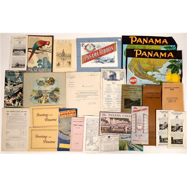 Vintage Tourist Pamphlet Collection of Panama  [135080]